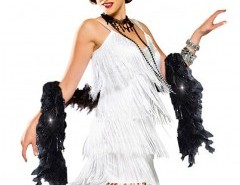 Halloween Sequin Embellished Fringing Dress (with headband and feather) Chicnova online fashion store China