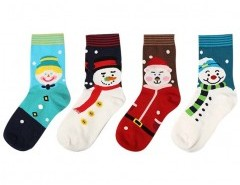 Christmas Snowman Print Socks Chicnova online fashion store China