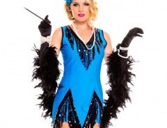 Halloween V-neck Fringing Dress (with headband and feather) Chicnova online fashion store China