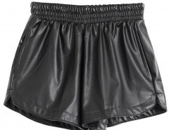 Solid Color Ruffle Shorts Chicnova online fashion store China