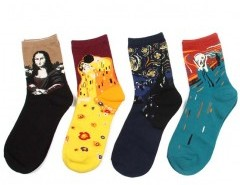 Contrast Oil Painting Socks Chicnova online fashion store China