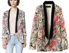 New Vintage Retro Womens Chiffon Boho Hippie Loose Floral Print Kimono Coat Cape Blazer S/M/L Cndirect online fashion store China