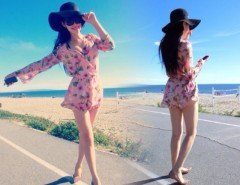 Summer Beach Women Chiffon Floral Playsuit Shorts Romper Jumpsuit Sundress Cndirect online fashion store China