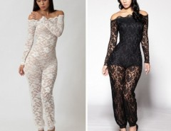 Women's Sexy Fashion Lace Club Bandage Bodycon Jumpsuits Cocktail Party Clubwear Hotsale Cndirect online fashion store China