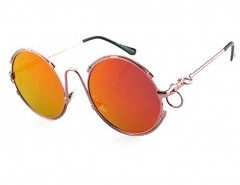 Reflective Round Sunglasses Chicnova online fashion store China