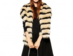 Faux Fur Scarf in Color Block Chicnova online fashion store China