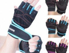 1 Pair Sports Fashion Gym Cycling Bike Bicycle Shockproof Sports Half Finger Glove Cndirect online fashion store China