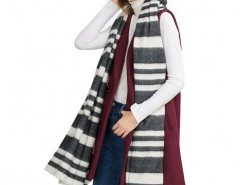Oversized Scarf in Neutral Stripe Chicnova online fashion store China
