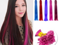 "100pcs Brazilian Remy hair U-Tip Women's Girls Straight Colorful Nail Tip Human Hair Extensions 18"" 5 Colors Cndirect online fashion store China"