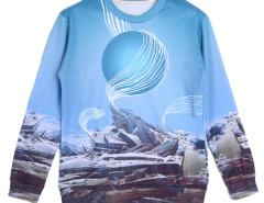 Choies 3D Unisex Ruins Print Sweatshirt Choies.com online fashion store USA