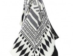 Geo Print Cape with Fringe Chicnova online fashion store China