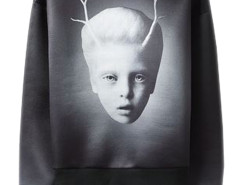 Men's Black Mysterious Child Print Visco-Elastic Sweatshirt Choies.com online fashion store USA
