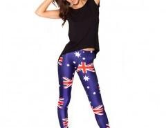 Skinny Leggings with Union Flag Print Chicnova online fashion store China
