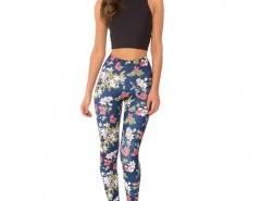 Skinny Leggings in Floral Print Chicnova online fashion store China