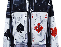 Choies 3D Unisex Poker Print Sweatshirt Choies.com online fashion store USA