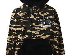 Unisex Tiger Stripes Camouflage Letter Print Hoodie Choies.com online fashion store USA