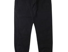 Men's Black Elastic Cuff Pants with Zipper Detail Choies.com online fashion store USA