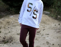 White Sweatshirts With Letter and Number Print Choies.com online fashion store USA