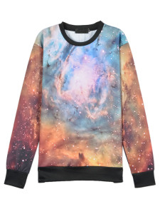 3D Galaxy Digital Print Unisex Sweatshirt Choies.com online fashion store USA