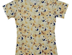 Unisex 3D T-shirt With Funny Akita Print Choies.com online fashion store USA