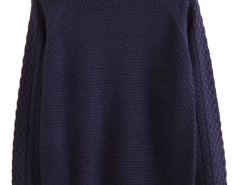 Men's Navy Blue Textured Knit Sweater Choies.com online fashion store USA