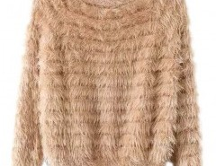 Round Neck Mohair Sweater Chicnova online fashion store China