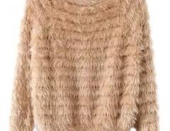 Round Neck Mohair Sweater Chicnova online fashion store China