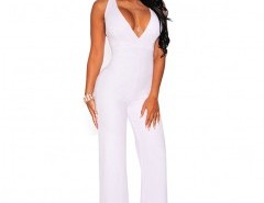 V-neck Cross Back Jumpsuit Chicnova online fashion store China