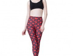 Skinny Leggings in Heart Print Chicnova online fashion store China