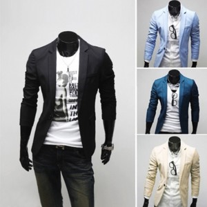 2016 Trends 聽Men's Casual Fit One Button Blazer Suit Jacket Cndirect online fashion store China