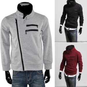 2016 Trends Men Winter Cool Long Sleeve Coat Jacket Sweat Zipper Cndirect online fashion store China