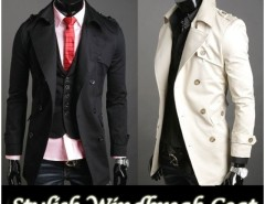 2016 Trends Men's Korea Slim Classic Double Breasted Wool Coat Jacket Cndirect online fashion store China