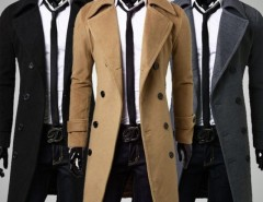 2016 Trends Men's Trench Coat Winter Long Jacket Double Breasted Overcoat Cndirect online fashion store China