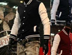 "2016 Trends Men's Trendy ""NY"" Baseball Uniform Slim Designed Fit Coat Jacket Outerwear 3 Colors M ~XXL Cndirect online fashion store China"