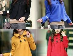 2016 Trends Women鈥檚 Fashion Fit Slim Outwear Temperament Woolen Collar Jacket Turtleneck Coat Cndirect online fashion store China