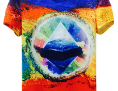 Color Block 3D Unisex Undersea Scenery Print T-shirt Choies.com online fashion store USA