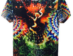 Multicolor 3D Unisex Evil And Angel T-shirt with Eye Print Choies.com online fashion store USA