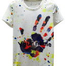 White Splash Hand And Letter Print Short Sleeve T-shirt Choies.com online fashion store USA