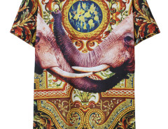 Multicolor 3D Unisex Elephant And Vine Print T-shirt Choies.com online fashion store USA