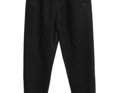 Black Buttoned Front Pocket Jogger Pants Choies.com online fashion store USA