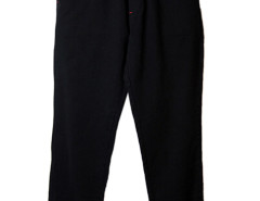 Black Textured PU Pocket Zipper Bottom Jogger Pants Choies.com online fashion store USA