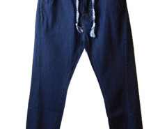 Blue Drawstring Waist Jogger Pants Choies.com online fashion store USA