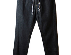 Black Drawstring Waist Jogger Pants Choies.com online fashion store USA