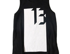 Black Contrast No.13 And Arrow Print Vest Choies.com online fashion store USA