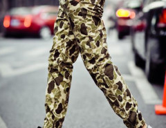 Camouflage Drawstring Waist Jogger Pants Choies.com online fashion store USA