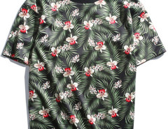 Green Tropical Print T-shirt Choies.com online fashion store USA