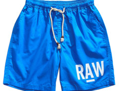 Blue Letter Print Drawstring Waist Shorts Choies.com online fashion store USA