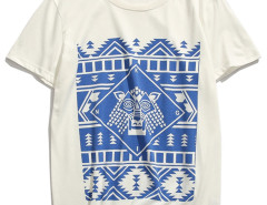 White Tribe Symbol Print T-shirt Choies.com online fashion store USA