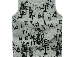 Gray Graffiti Letter Print Vest Choies.com online fashion store USA