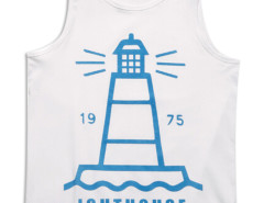 White Light House Print Vest Top Choies.com online fashion store USA